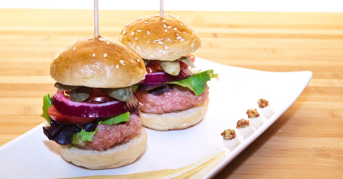 Mini hamburguesa de pollo