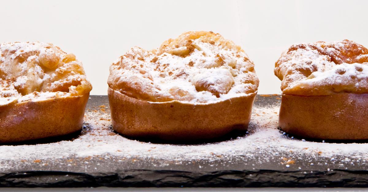 Buñuelos de manzana bajos en calorías